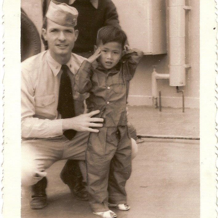 Dr. Tom Dooley aboard the USS H.A. Bass Haiphong Indochina